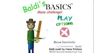 Baldi's Basics: Maze Challenge! (Baldi Fangame)