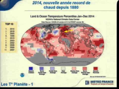 Données du changement climatique en Alsace par Météo France