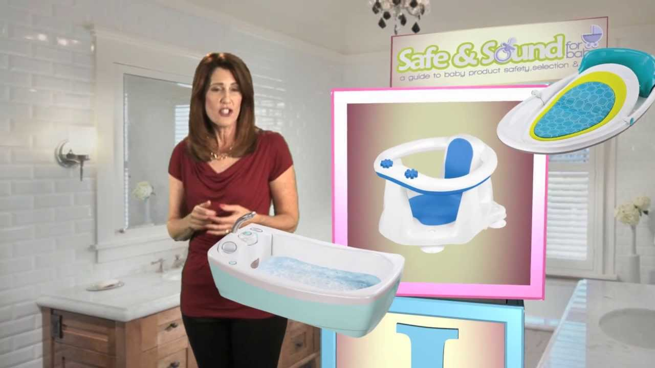 Safe & Sound for Baby: Bath Tub & Bath Seat Safety - YouTube