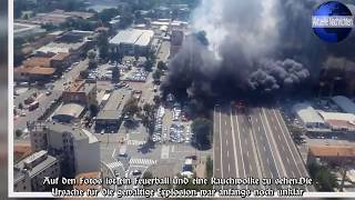Explosion in Bologna: Lkw explodiert auf Autobahn beim Flughafen