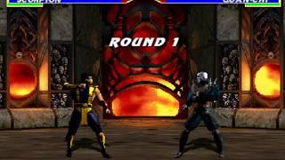 Mortal Kombat Gold (Remake) Beta - Scorpion Gameplay