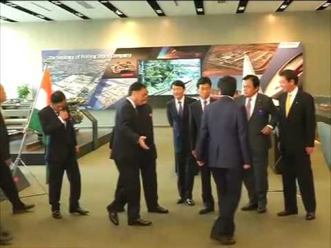 Indian PM Modi visits Japan's Kawasaki plant