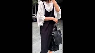 제이앤티 여름 쿨원단 반팔 티셔츠 + 나시 원피스 세트