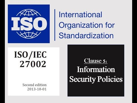 ISO 27002 - Control 5.1.2 - Review Of Policies For Information Security