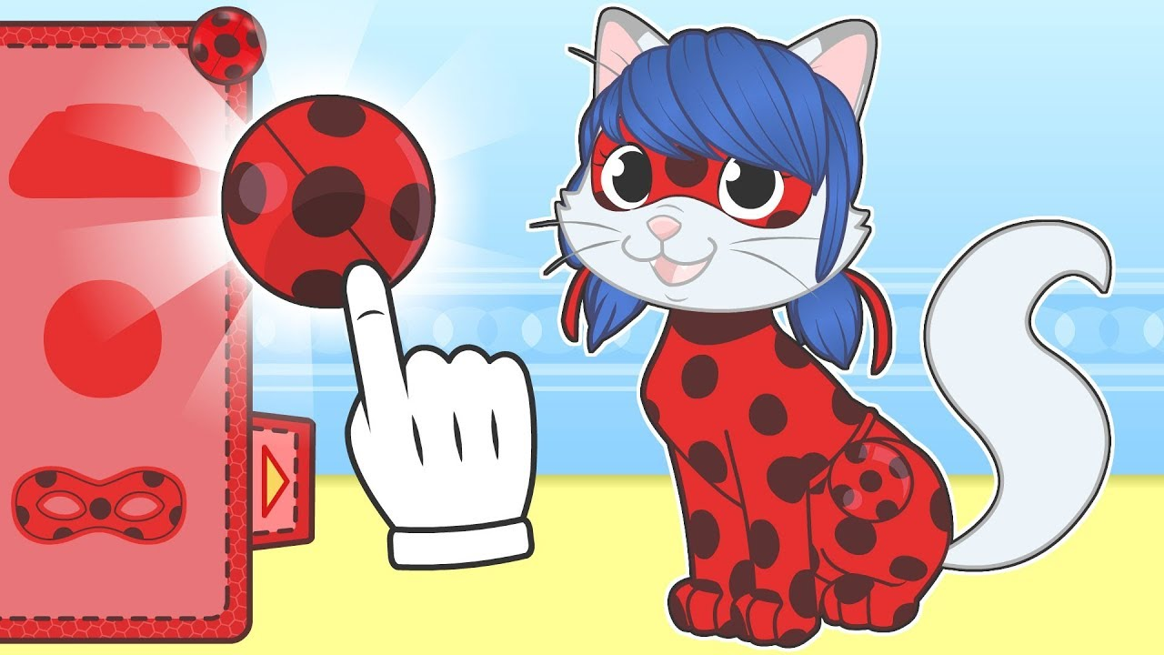 baby-pets-kira-the-cat-dresses-up-as-ladyubug-cartoons-for-children