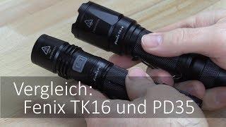 Vergleich: Fenix TK16 mit der Fenix PD35 im Taschenlampen Test