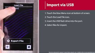 5 - How to Import Menu via USB Flash Drive (MXP/AXP)