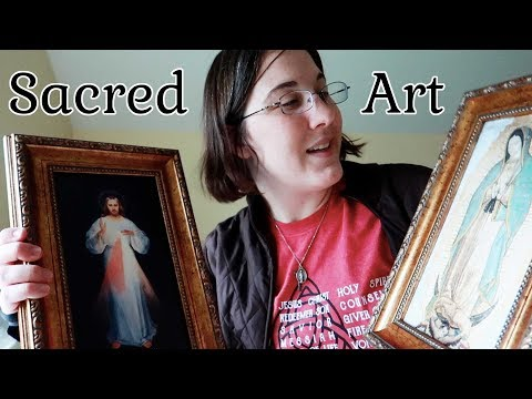 Sacred Art - Divine Mercy & Guadalupe