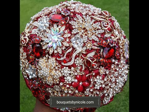 DIY Brooch Bouquet l RUBY l Wedding project l Bridal Bouquet Flowers