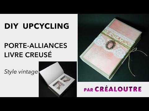 Diy Livre Creux Porte Alliances Style Vintage
