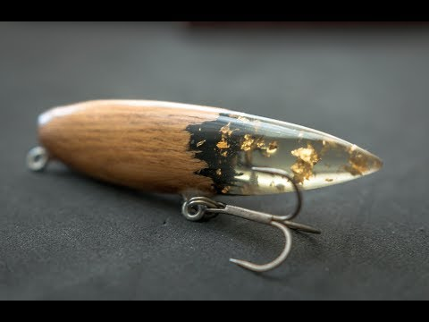 Wooden Vintage Style Lure With 24 Karat Gold Leaf Resin Tail, Will It Catch Anything?