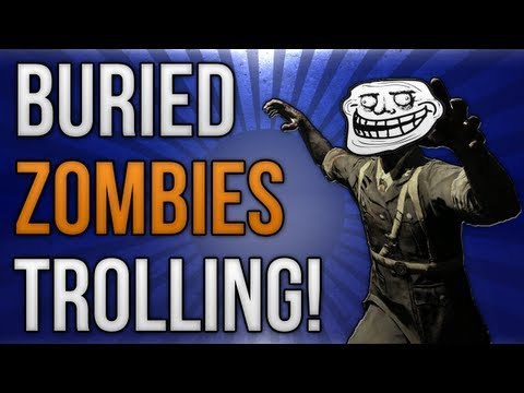 BO2: Buried Zombies Trolling! (Time Bomb, Trample Steam