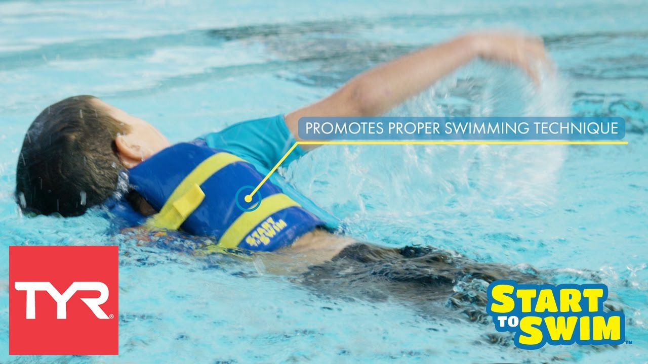Tyr kids 39 start to swim coast guard approved flotation for Wearing t shirt in swimming pool