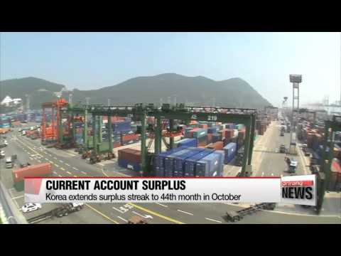 Korea extends surplus streak to 44th month in October   10월 경상수지 89.6억달러 흑자…44개월