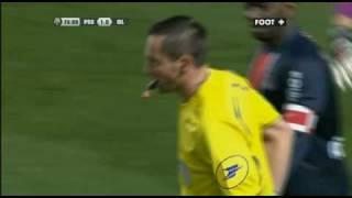 Juninho red card/carton rouge, PSG - Olympique Lyonnais