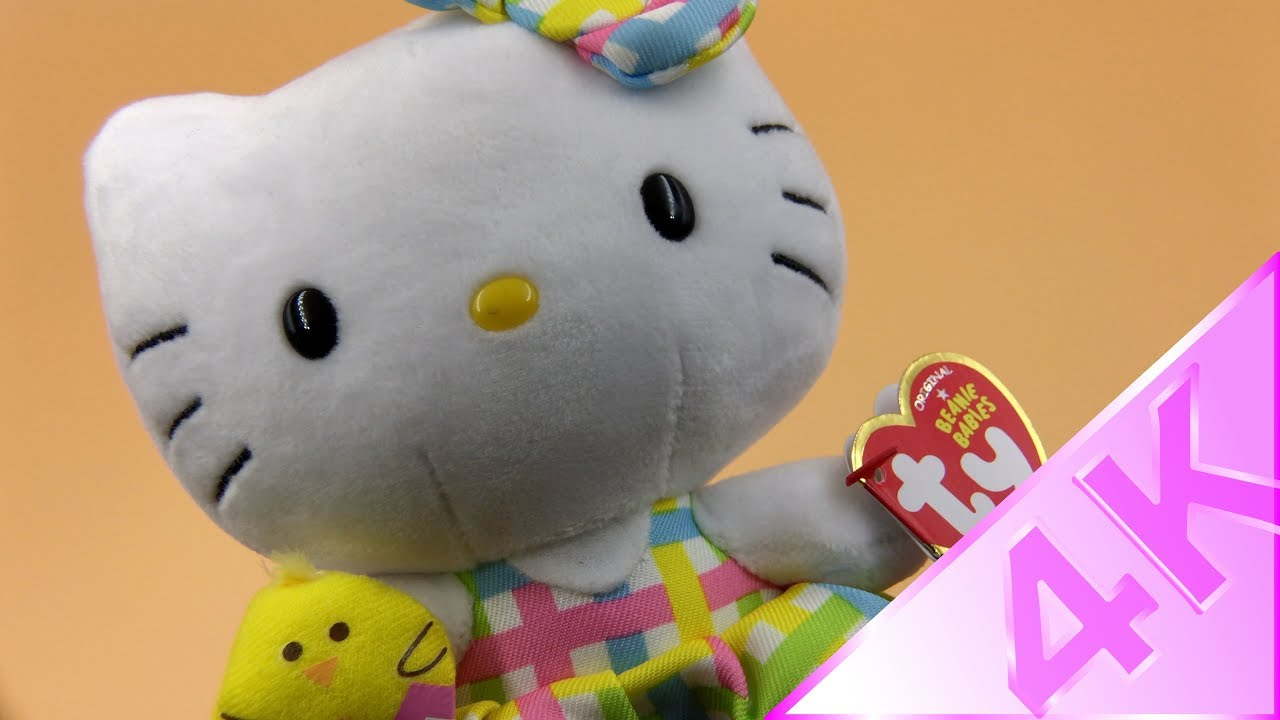 Ty Beanie Babies - Hello Kitty with Chick 4k - YouTube 68f3b2264058