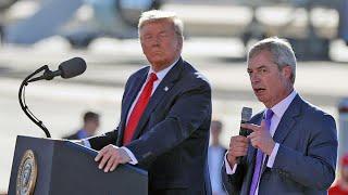 Nigel Farage praises Donald Trump at Arizona rally