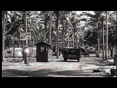 A mess and a hospital in Espiritu Santo, Vanuatu during World War II. HD Stock Footage