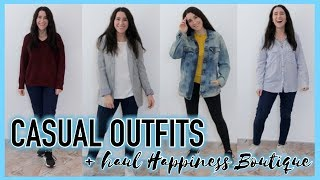 CASUAL OUTFITS + HAUL Happiness Boutique | Christine Hug