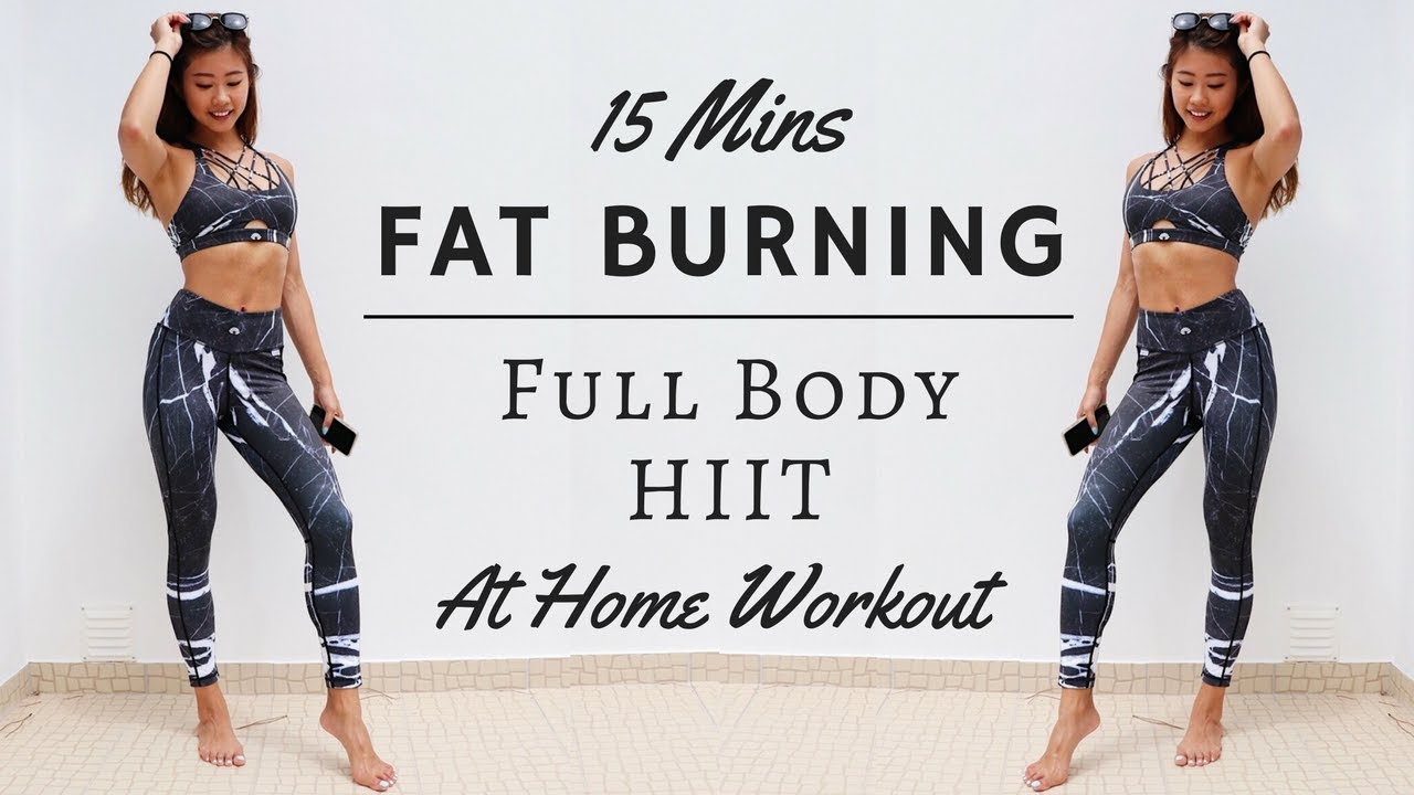 15 min At Home FAT BURNING Full Body HIIT Workout | No Equipment