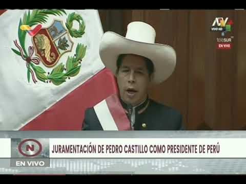 Pedro Castillo toma posesión como Presidente de Perú (Completo, 28 de julio de 2021)