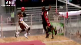 Basketball Slam Dunk Area Inside Professional Trampoline Mats