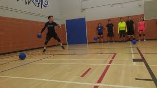 BOSS Dodgeball | S10 Tues Rec League Playoffs Highlights - 2 Double Catches!