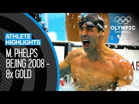 Michael Phelps 🇺🇸 - All EIGHT Gold Medal Races At Beijing 2008! | Athlete Highlights