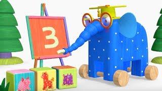 Деревяшки - Счет + Бал - развивающие мультфильмы для самых маленьких  0-4