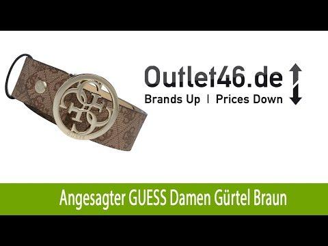 new style 64174 737a5 Angesagter GUESS Damen Gürtel Braun | Outlet46.de