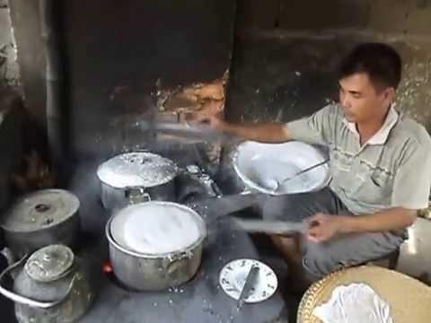 Làm bánh cuốn phiên chợ Đình - Quảng Lộc - Quảng Xương - Thanh Hóa - Making stuffed pancake