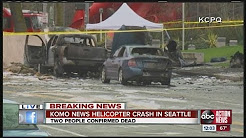 KOMO TV station chopper crashes near Space Needle in Seattle