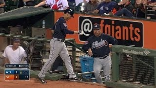 Simmons limps in dugout after running back