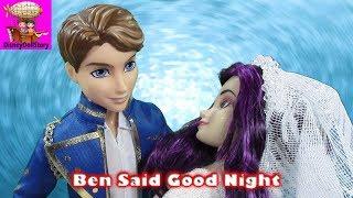 ben kisses mal good night part 6 halloween descendants   disney