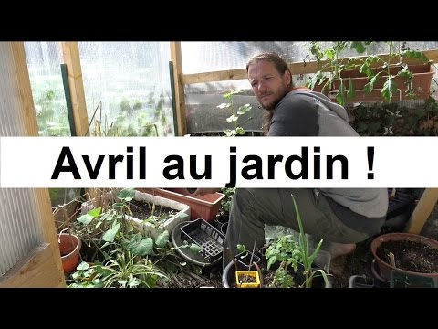 que faire au jardin en avril youtube. Black Bedroom Furniture Sets. Home Design Ideas