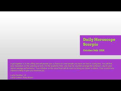 daily horoscope scorpio