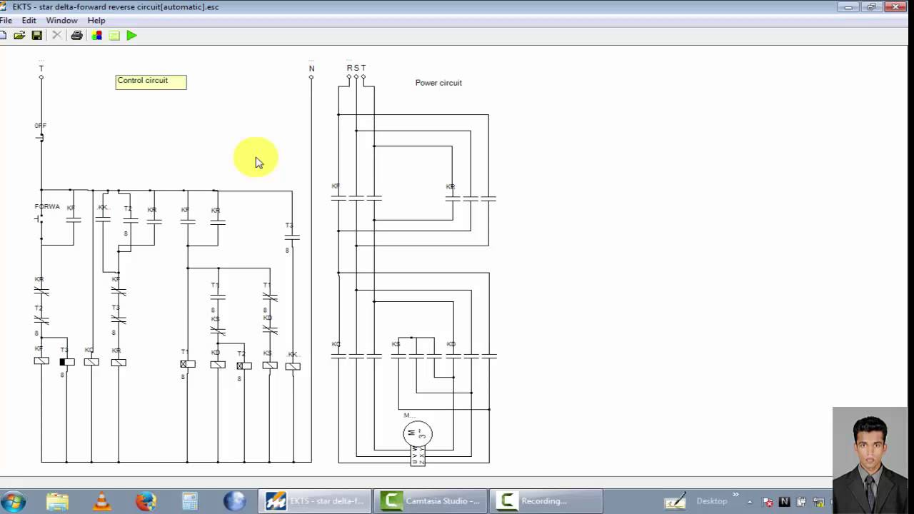 three phase motor control circuit star delta forward reverse rh youtube com 3 phase connection wye start delta run 12 lead 480 volt motor [ 1280 x 720 Pixel ]
