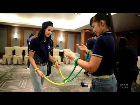 Team Building Thailand Indoor Activity The Magic Rope Game For Team Culture