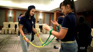 Team building Thailand Indoor activity The magic rope game f...