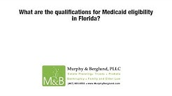 What are the qualifications for Medicaid eligibility in Florida?