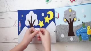 Развивающая книга для детей.  Времена года!