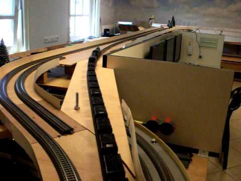 Slanke bogen met m rklin c rails 2 youtube for Galandage 3 vantaux 3 rails