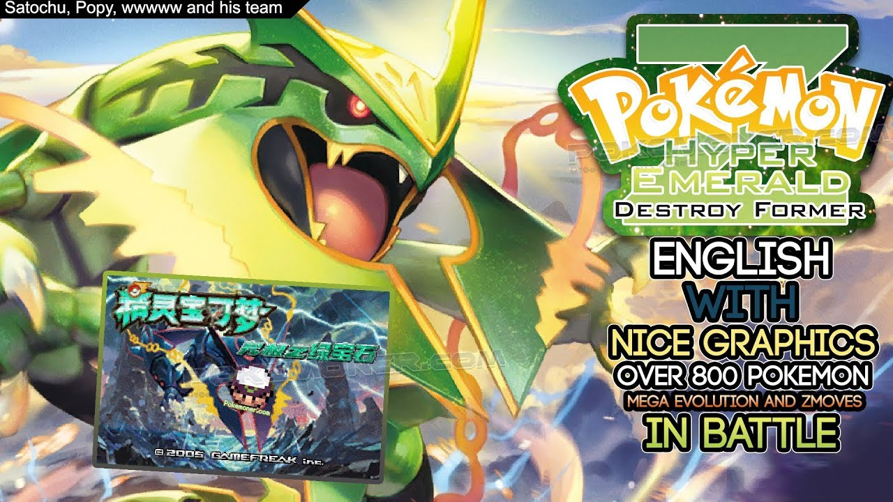 Pokemon hyper emerald 807 v2 english new game with over 800.