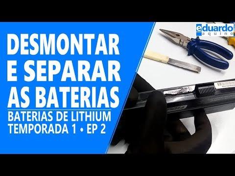 Baterias de Lithium - Desmontando a Bateria e Separando as Células - Faça Você mesmo - Aula 02