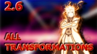 Bleach Vs Naruto 2.6 | All Transformations
