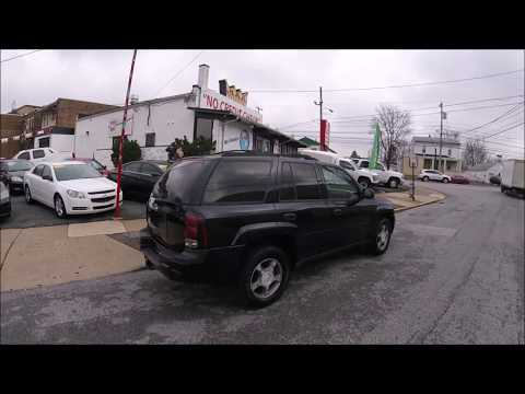 2007 Black /Gray Chevrolet TrailBlazer LS1 4WD (1GNDT13S972) with an 4.2L L6 DOHC 24V engine, 4-Speed Automatic Overdrive transmission, located at 577 Chester Pike, Prospect Park, PA, 19076, (610) 237-1015, 39.886154, -75.302338 - Photo #0