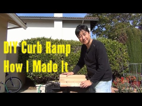 Diy Curb Ramp How I Made It Youtube