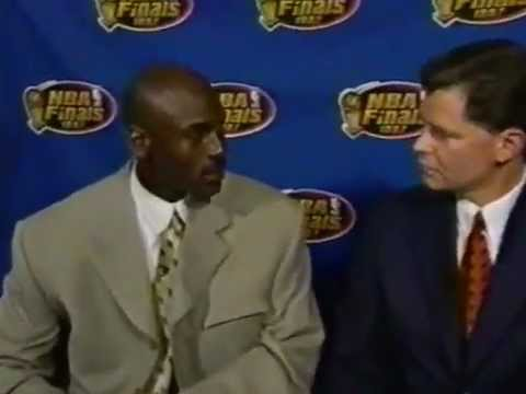 Michael Jordan Post-Game Talk - 1997 Finals Game 1 (June 1, 1997)
