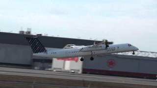 Porter Airlines - Bombardier DHC-8-402Q Dash 8 (C-GLQG) Takeoff 06R CYUL Montreal