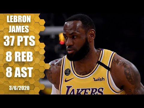 LeBron drops 37 in showdown with Giannis in Lakers vs. Bucks | 2019-20 NBA Highlights